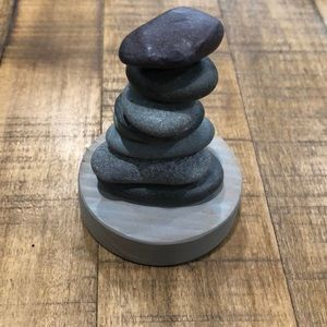 Desktop Rock Cairn With Removable Rocks